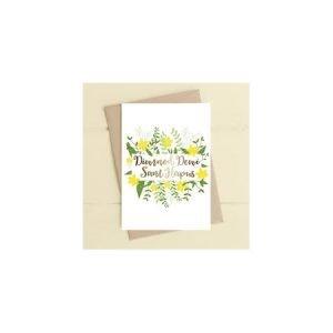 Diwrnod Dewi Sant Hapus Daffodil Card