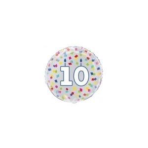 Age 10 helium balloon