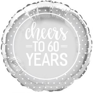 Diamond Anniversary helium balloon