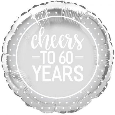 18 inch Happy Anniversary - Cheers to 60 Years Balloon