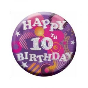 Small Clip-On Badge - Happy 10th Birthday
