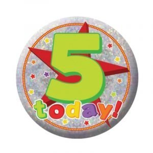 Small Clip-On Badge - Happy 5th Birthday