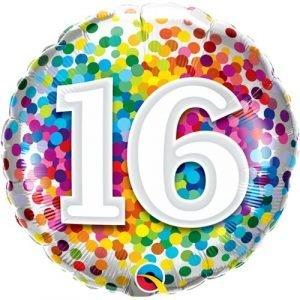 Age 16 helium balloon