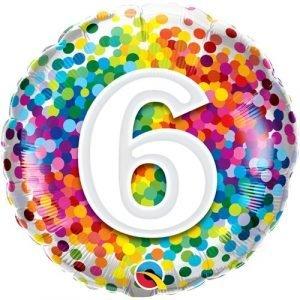 Age 6 helium balloon