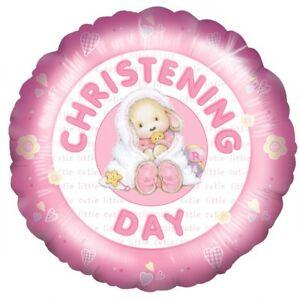 Christening helium balloon