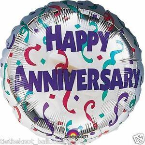 Happy Anniversary helium balloon