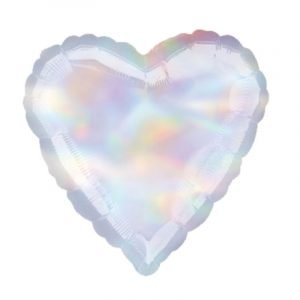 18 inch Iridescent Heart Balloon