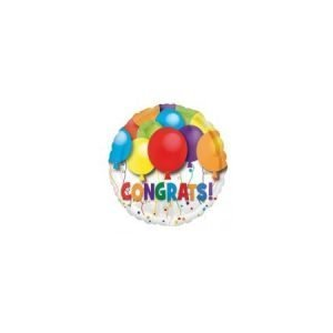 18 inch Congratulations - Multi-Coloured Balloon
