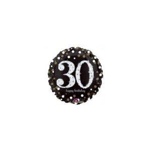 Age 30 helium balloon