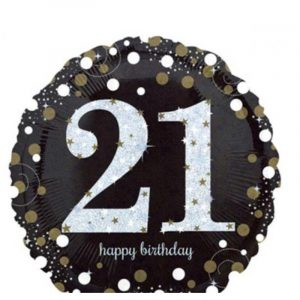 Age 21 helium balloon