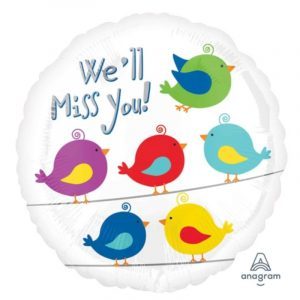 18 inch We'll Miss You - Birds Balloon