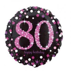 Age 80 helium balloon