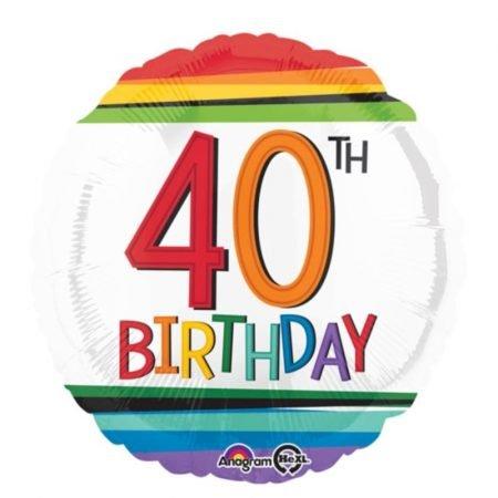 Age 40 helium balloon