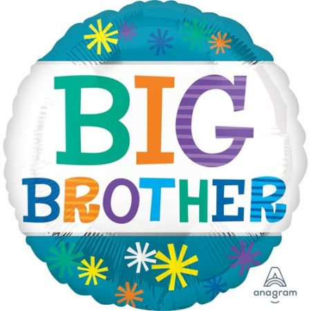18 inch New Baby - Big Brother Teal Balloon