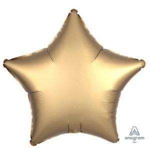 18 inch Satin Star Balloon - Gold Sateen