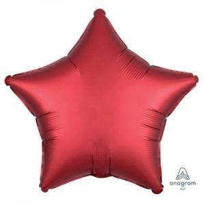 18 inch Satin Star Balloon - Sangria Red