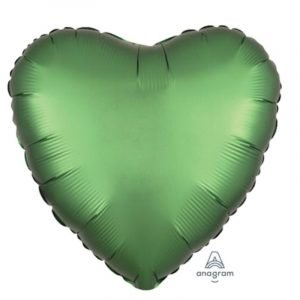 18 inch Satin Heart Balloon - Emerald Green