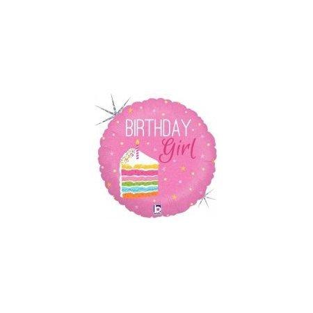 18 inch Balloon Birthday Girl Cake