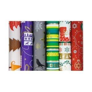 Clairefontaine Wrapping Paper 2m x 70cm - Teal Floral