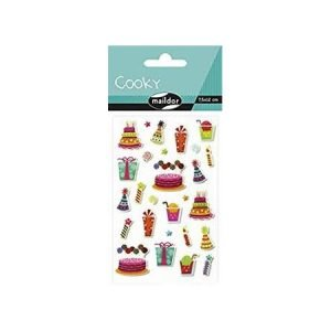 Cooky Stickers - Birthday Cakes and Hats