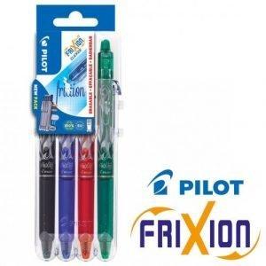Pilot Frixion Clicker Erasable Ballpoint Pen 0.7mm Medium - Pack of 4