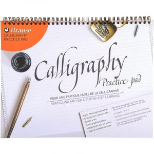 Calligraphy Practice Pad Wirebound Large - 50 Sheets
