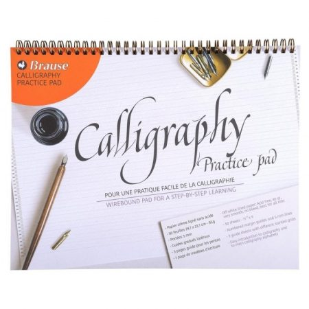 Calligraphy Practice Pad Wirebound Medium - 50 Sheets