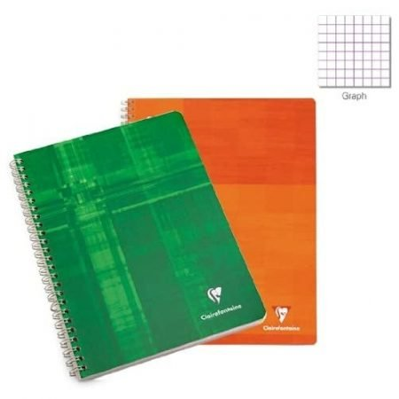 Clairefontaine A5 Wirebound Plain Notebook
