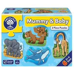 Orchard Toys Mummy & Baby 2 Piece Jigsaw Puzzles - 6 In A Box