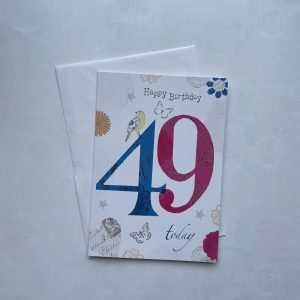 Happy Birthday 49 Today Age Card