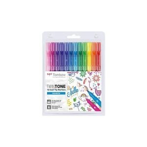 Tombow Twintone Dual Tip Markers x 12