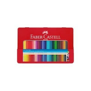 Faber Castell Tin of Grip Colouring Pencils x 36