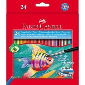Faber Castell 24 Watercolour Pencils with Brush