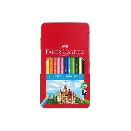 Faber Castell Tin of Classic Colouring Pencils x 12