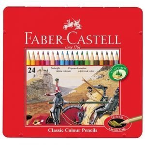 Faber Castell Tin of Classic Colouring Pencils x 24