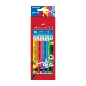 Faber Castell Erasable Grip Colouring Pencils x 10