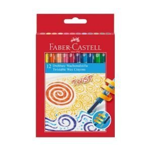 Faber Castell Twistable Wax Crayons x 12