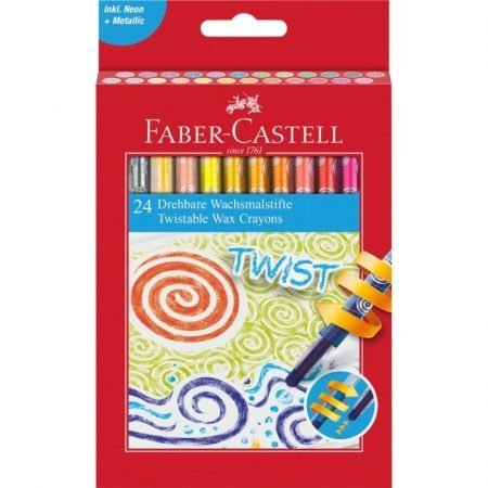 Faber Castell Twistable Wax Crayons x 24