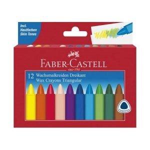 Faber Castell Triangular Wax Crayons x 12