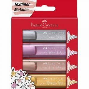 Faber Castell Textliner Metallic Highlighters - Pack of 4