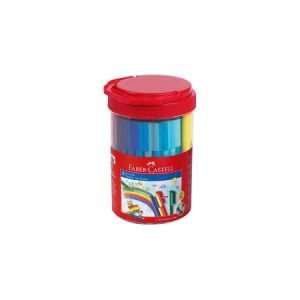 Faber Castell Connector Fibre Tip Pens Bucket x 50