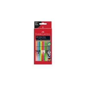 Faber Castell Pastel, Neon and Metallic Grip Colouring Pencils x 12