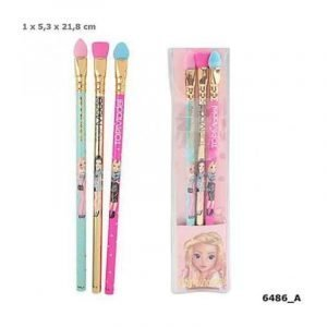 Top Model Graphite Pencil With Make-up Brush Eraser Topper