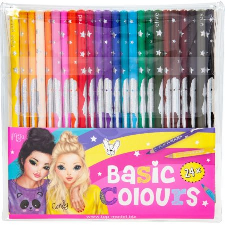 Top Model Colouring Pencils - Basic Colours x 24