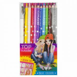 Top Model Colouring Pencils - Basic Colours x 12