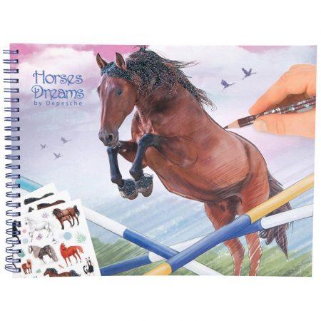 Horses Dreams Sticker & Colouring Book