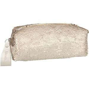 Top Model Reversible Sequin Pencil Case - Gold / Cream
