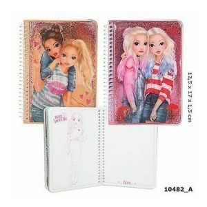 Top Model Glitter Notebook (June & Jill)