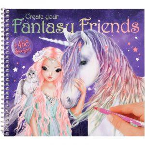 Create Your Fantasy Friends Colouring & Sticker Book