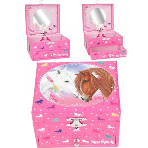 Miss Melody Wind-Up Musical Jewellery Box With Twirling Horse